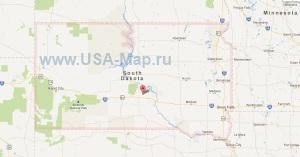 Подробная карта Южной Дакоты