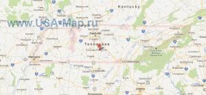 Подробная карта Теннесси