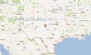 Подробная карта Техаса
