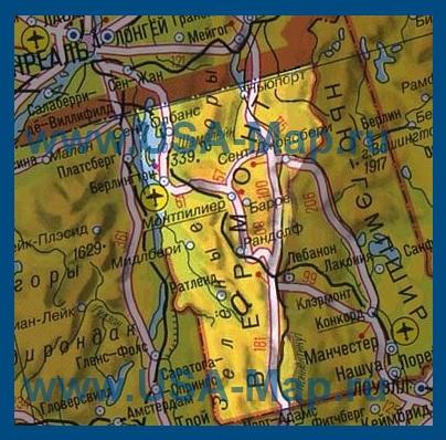 Карта вермонта на русском языке