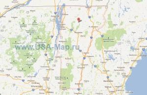 Подробная карта Вермонта