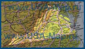 Карта Вирджинии на русском языке