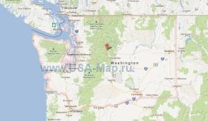 Подробная карта штата Вашингтон