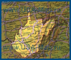 Карта Западной Вирджинии на русском языке