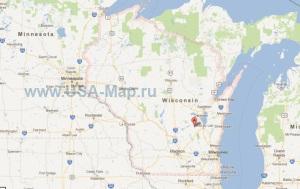 Подробная карта Висконсина