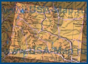 Карта Вайоминга на русском языке